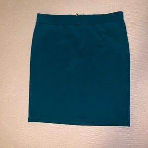 Forever 21 M navy green skirt zip up